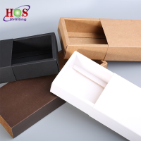 High Quality Recycle Printing Custom All Color Black Shipping Jewelry Drawer Packaging Kraft Paper Gift Box With Logo