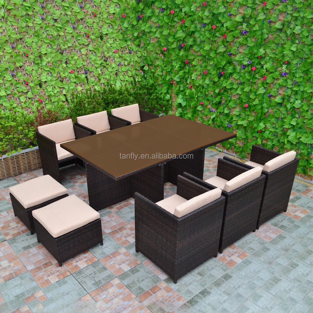 Fantastic Hot Sale 10 Seater Space Saving Outdoor Patio Rattan Dining Chair Table Sets Garden Funiture Buy 10 Seater Outdoor Tables Patio Furniture Download Free Architecture Designs Sospemadebymaigaardcom