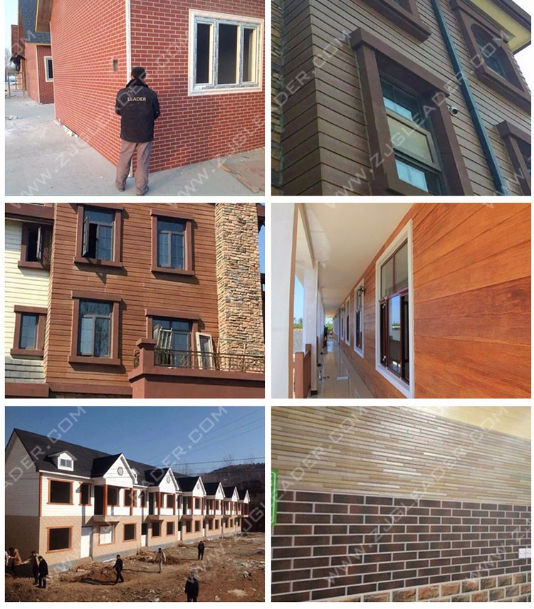 Non Asbestos Brick Pattern Fiber Cement Exterior Siding