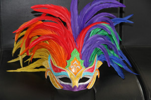 2014 new healthy natural colorful cock feather party mask Christmas funny mask