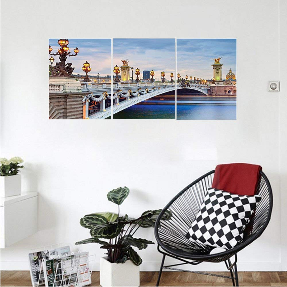 Get Quotations · Liguo88 Custom Canvas Paris Decor Collection Paris The  Alexandre Iii Bridge Located In Paris France And