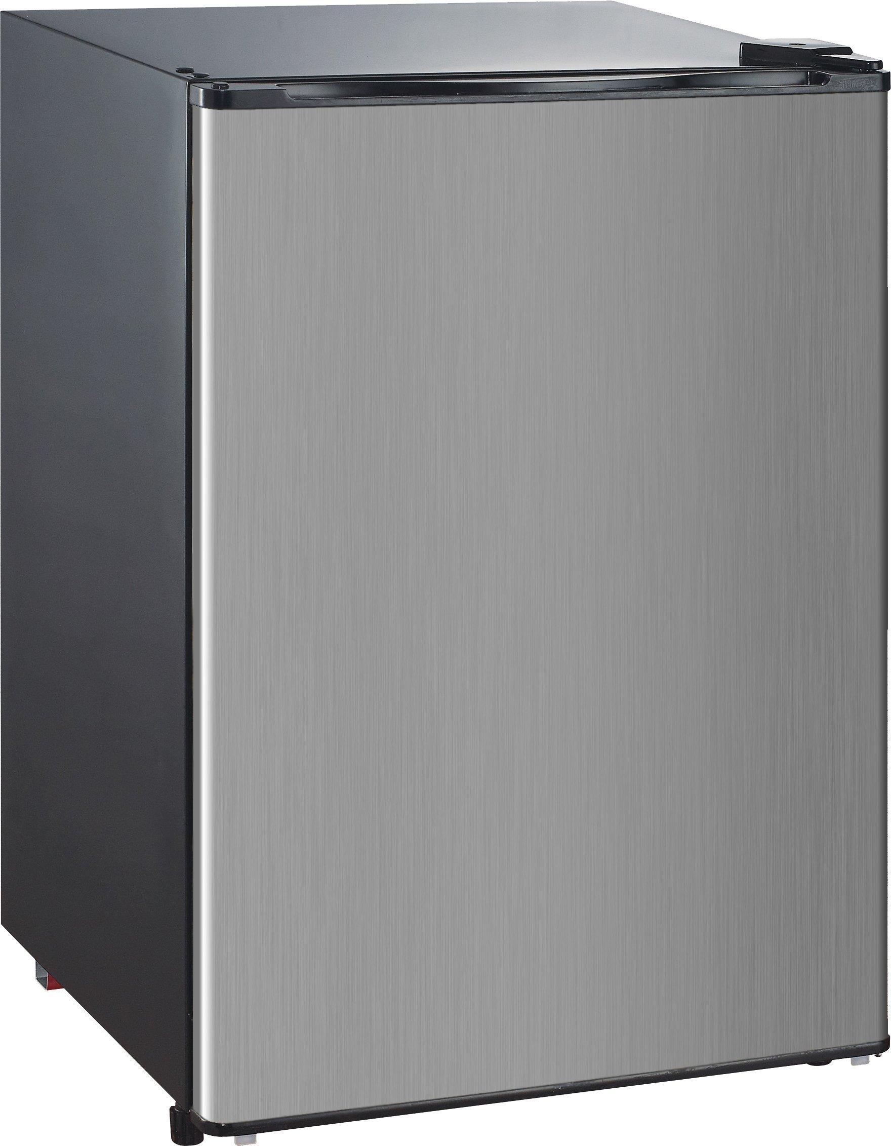 RCA-Igloo 4.5 Cubic Foot Fridge, Stainless Steel