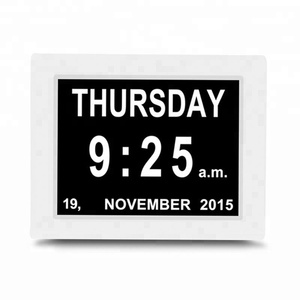 Supply digital calendar day clock with large clear time day and date display