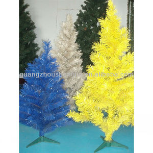 Color Christmas Tree yellow/white/blue Christmas tree
