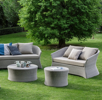 5 Piece Beautiful Half Round Designed Outdoor Lounge Sofa Set Tarrington  House Garden Furniture Of Rattan