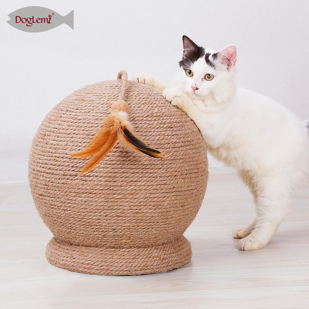 Chat Griffoir Grande Boule Sisal Griffoir Post Jouet