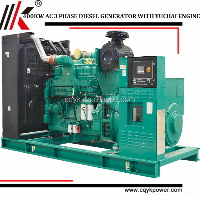 Low rpm generator head Displacement YC6T Series genset YC6T600L-D22 400KW diesel generator price in Canada