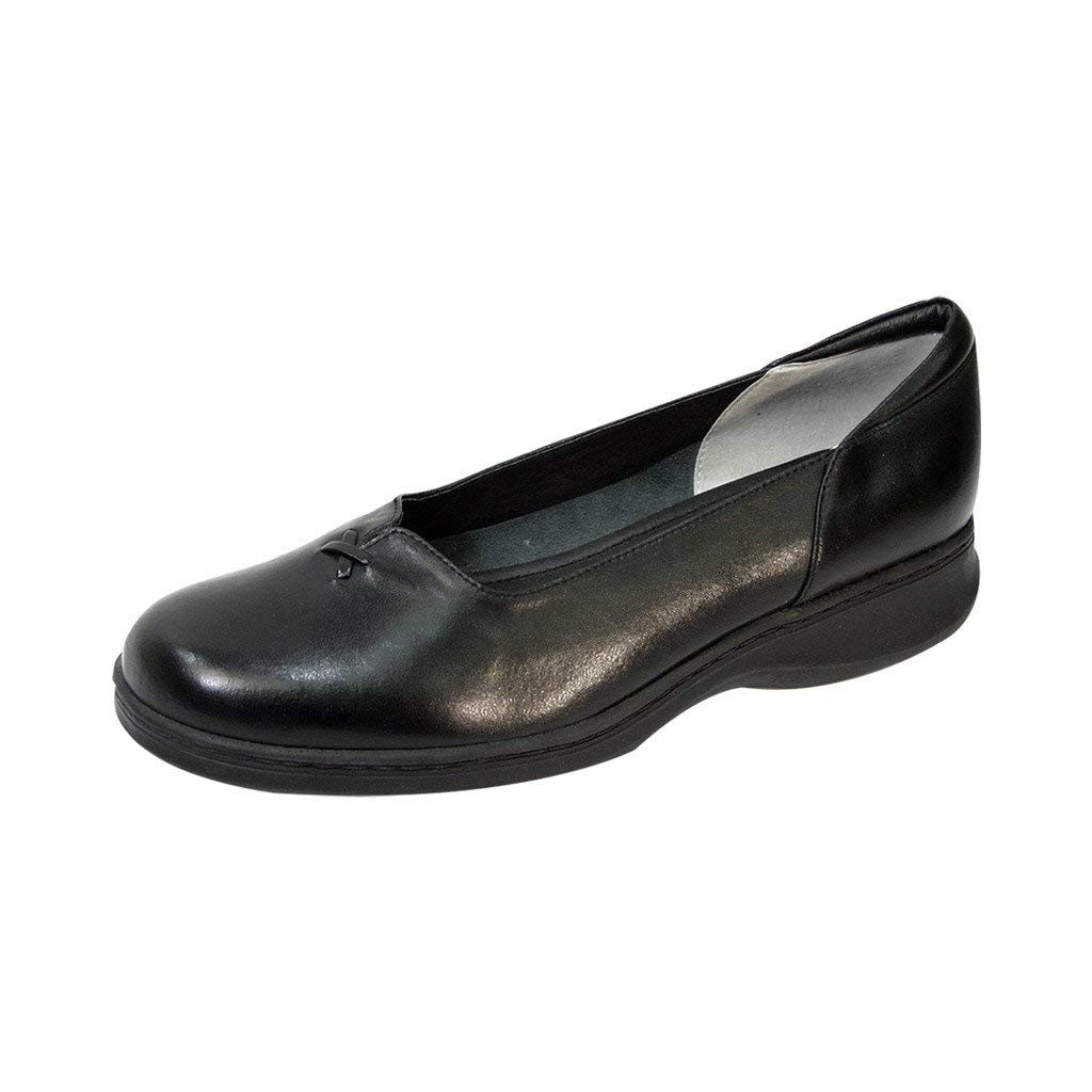 1acaf8827db Get Quotations · 24 Hour Comfort Cali Women Wide Width Elegant Durable Cushioned  Comfort Leather Slip On Shoes