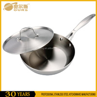 Superior Quality Tri-Ply Stainless Steel Induction Frying Pan