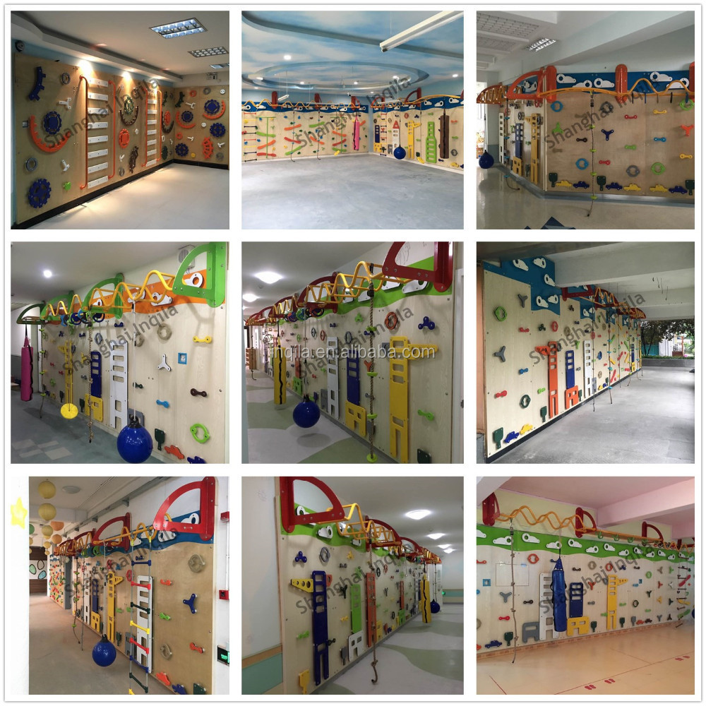 China homemade kids indoor climbing wall