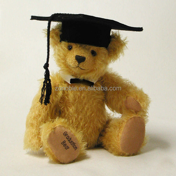 Stuffed cute lovely brown plush graduation teddy bear