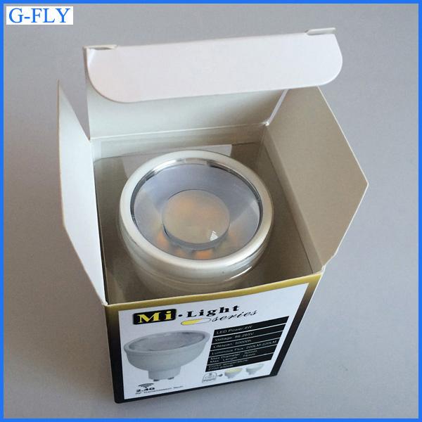 Original Mi Light 2.4g 85-265v Gu10 4w Wifi Rgb Cw Ww Led Bulb ...