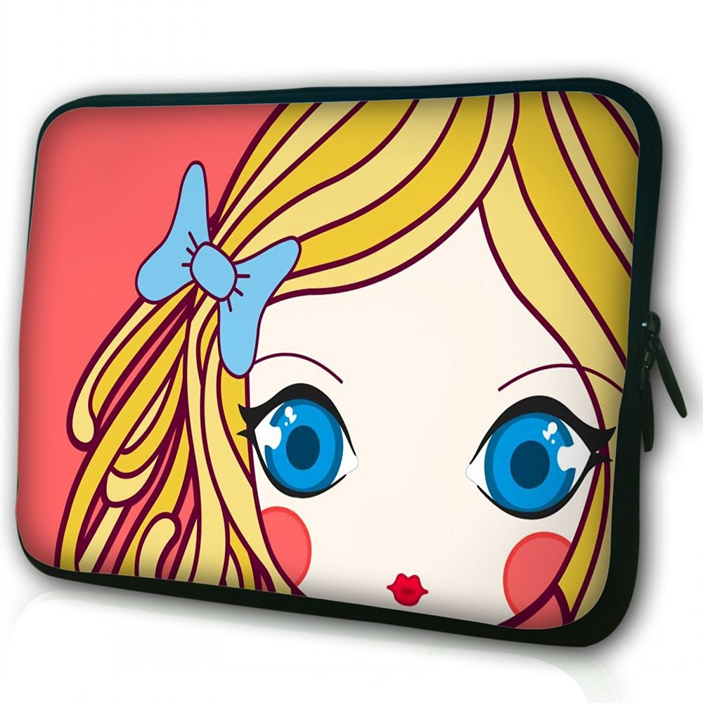"""Waterfly® Fashion Girl 14"""" 14.1"""" 14.4"""" Inch Laptop Notebook Computer Netbook PC Sleeve Carrying Bag Case Pouch Protetor Cover Holder for HP ENVY 14"""" Dell Inspiron 14R Lenovo Flex 14 Touchscreen Lenovo G410 And Most 14"""" 14.1"""" 14.4"""" Inch Laptop Ultrabook Chromebook Laptop Notebook"""