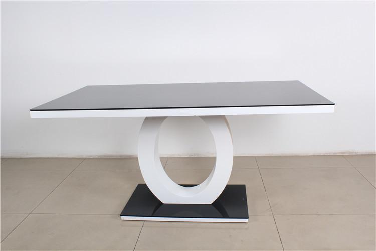 Nuevo Diseño Para 2015/cristal Negro Mesa De Comedor Bases De Madera ...