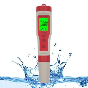 4 in 1 Professional Digital Tester PH TDS EC Temperature Meter Water Quality Monitor testing Kit for Pools with backlight