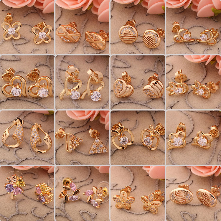 2015 new latest fashion all types of fancy small gold daily wear ...