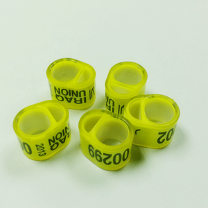 Plastic belgium plastic core with plastic coat combination ring for racing pigeon in hot sale China wholesaler