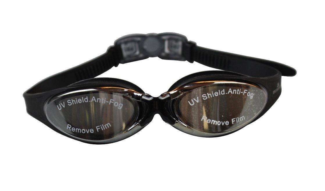 EPIC-SWIM-GEAR Swim Goggles With Anti fog UV Protection Mirrored Lenses And Adjustable Silicone Straps. Protective Case Included