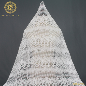 Polyester ivory guipure lace fabric for bridal dress GAX-82505
