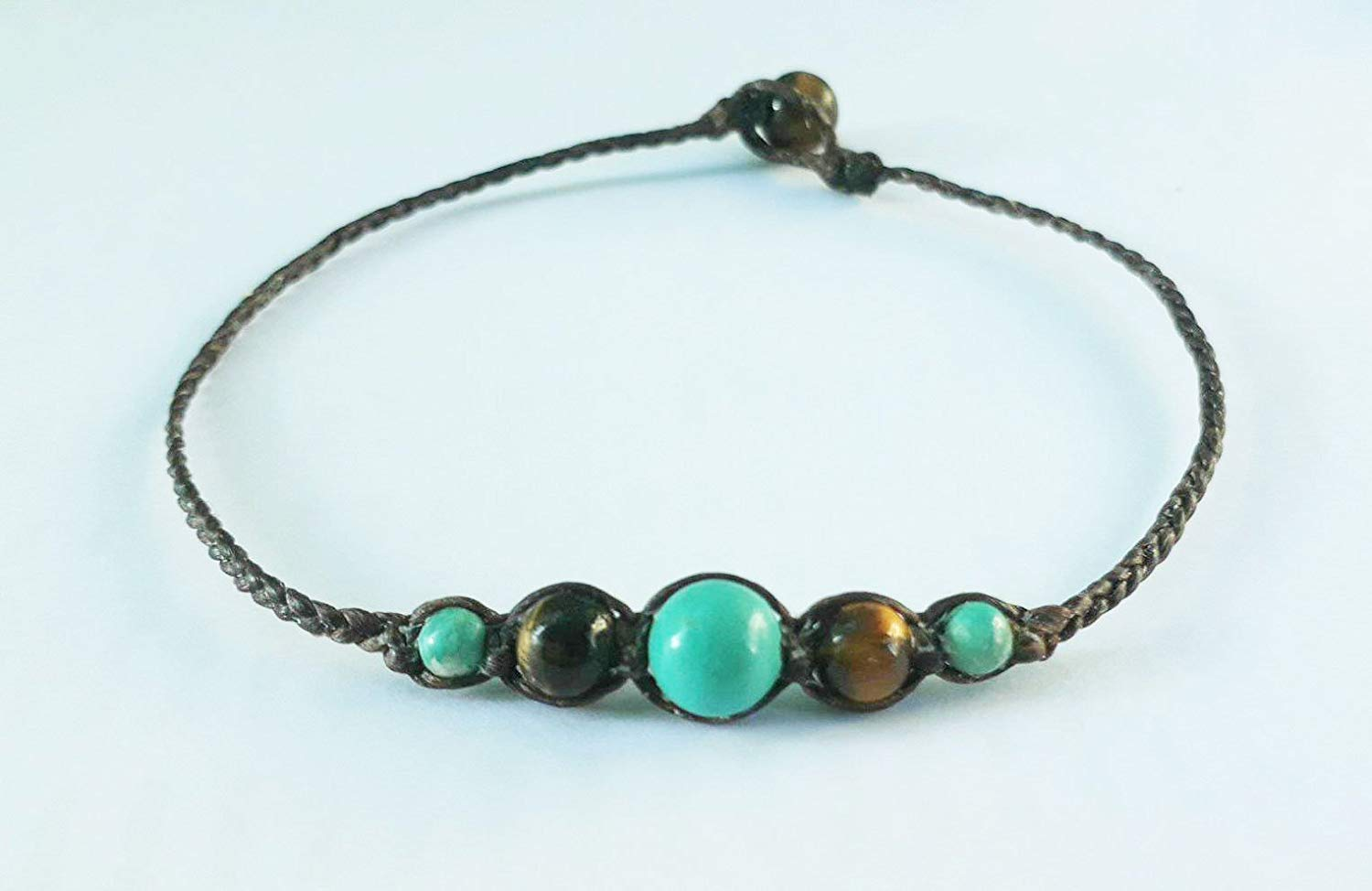 Turquoise anklets,tiger eye anklets,stone anklets,men anklets,women anklets,fashion anklets