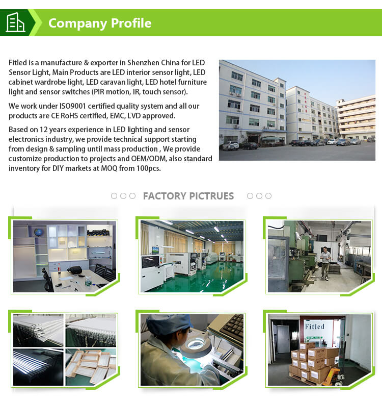 12v pcb circuit board led light touch/motion ir/pir sensor switch control pcb