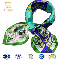 Natural Silk custom printed silk scarves with chain pattern High Quality 50x50cm silk satin scarf