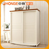 Factory Price White Sliding Door Cloth Indian Style Wardrobe