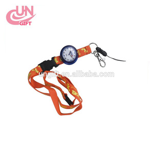 Custom fashional sublimation printing neck watch lanyard