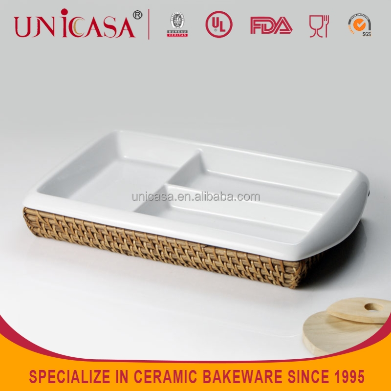 UNICASA ceramics fruit plate good quality porcelain candy/cake display plate