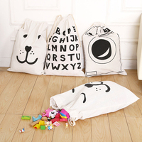 Canvas Kids Toy Storage Bag for Baby Toys