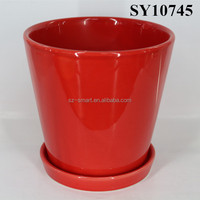 Ceramic garden pot for sale round decorative artificial flower pot