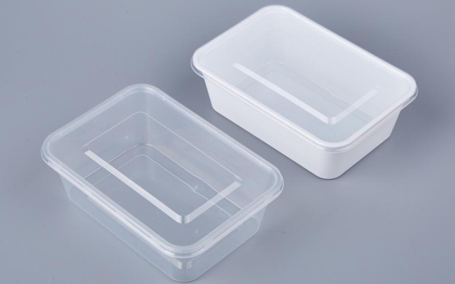 صديقة للبيئة مطعم أسود مستطيل البلاستيك pp الميكروويف التخلص من الغذاء الوجبات الجاهزة الحاويات