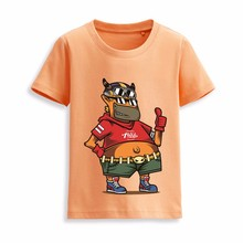 New model children fashion baby girl design wholesale floral printed t-shirt