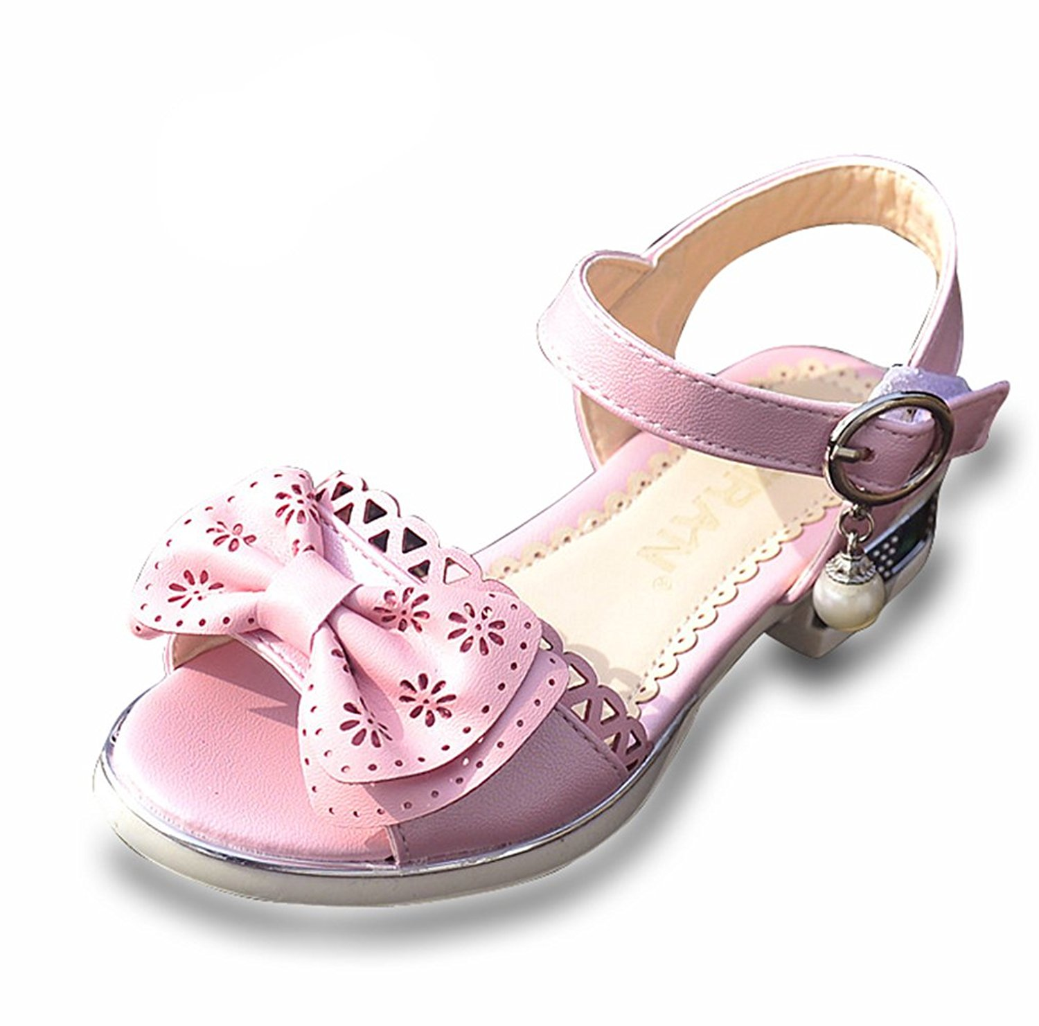 a7d4faf68439 Get Quotations · D.S.MOR Toddler Girls  Hollow Leather Sweet Comfortable  Sandals Dress Sandals Sandals Dress Sandals (