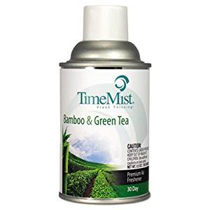 TimeMist Metered Aerosol Fragrance Dispenser Refill, Bamboo/Green Tea, 6. 6oz Aerosol, 12/CT