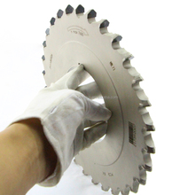 Wood cutting blade V grooved saw blade