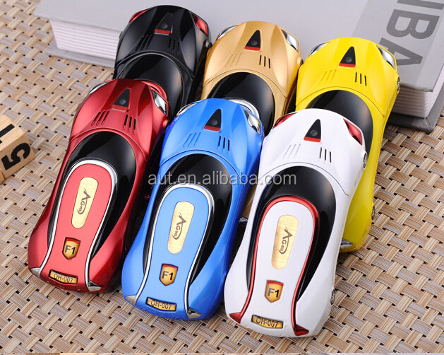 Hot sale dual sim sport car model mobile phone F1 multi-color