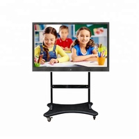 Factory price multi touch interactive touch display smart board for school