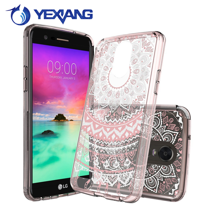 1mm acrylic tpu shockproof phone cover for lg stylo 3 custom case