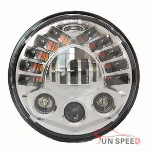 "Round 7"" Dot Sae 70w 7inch led multi fuction headlight for Lands Rovers 90/110 Defender"