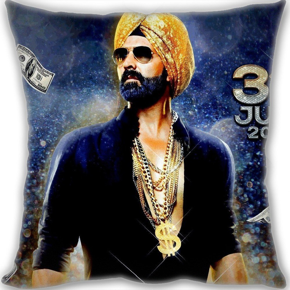 Lovers Gifts Akshay Kumar Singh Is Bliing Movie Throw Pillow CustomLeaning Cushion 30*30cm(12*12inch) Mini Children Size 190g(0.42lb) Two Sides Print