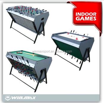 Popular New 3 In 1 Multi Functional Game Table Soccer/billiard/air Hockey
