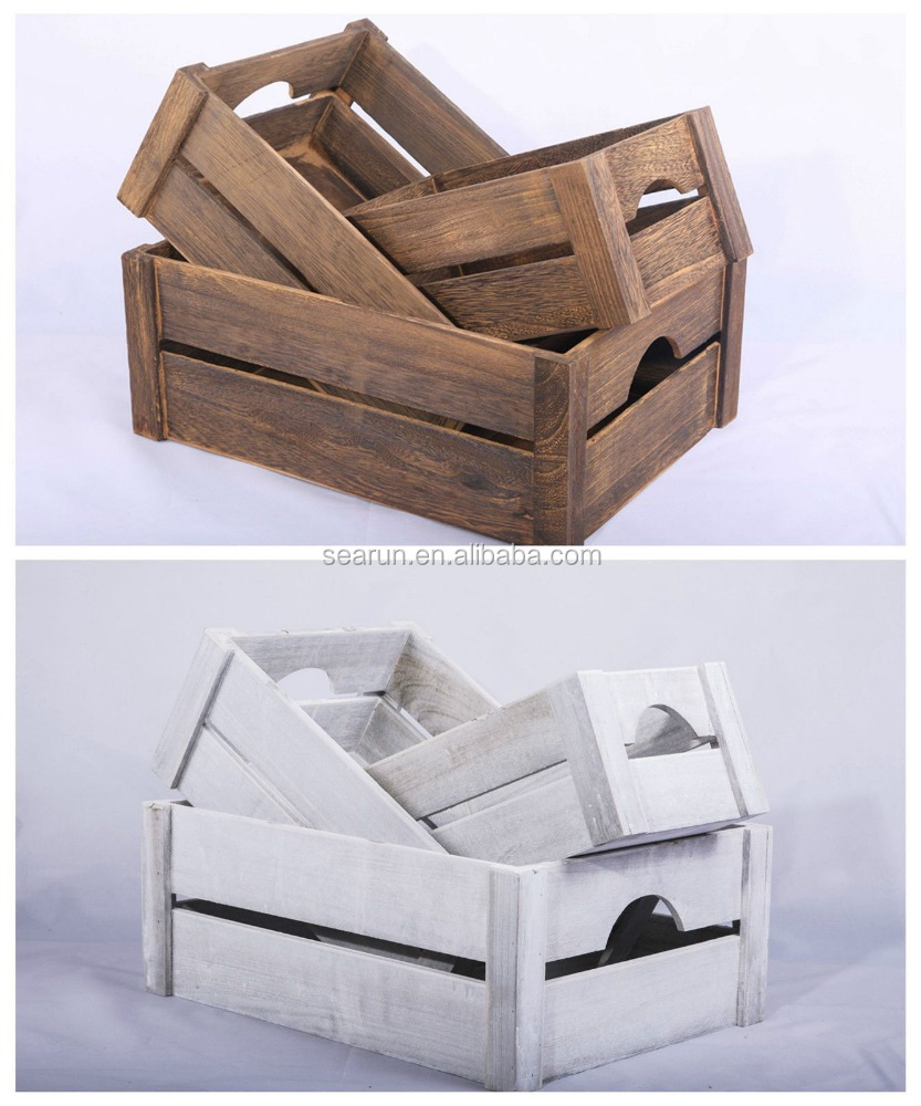 Wholesale wooden apple crates wooden apple crates for Wooden fruit crates