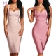 2019 Cross Over Front Slit Evening party women bodycon Bandage dress
