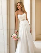 Elegantní svatební šaty s jednoduchou sponou z Aliexpress