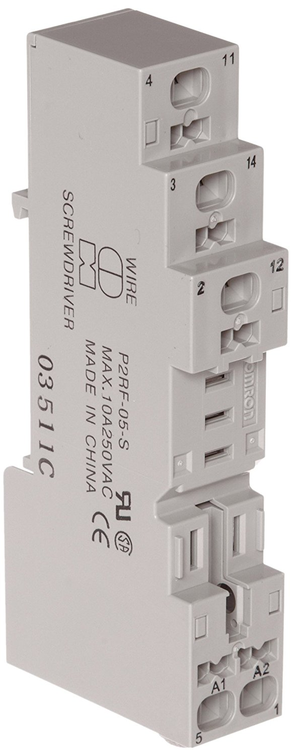 Finger Protect Type Track//Surface Mounting Screw Terminal For Use With G2R-2-S Series Relays Omron P2RF-08-E General Purpose Socket