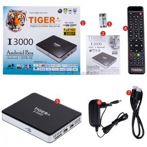 Tiger I3000 Android 4.2 satellite receiver Arabic IPTV box for Arabic