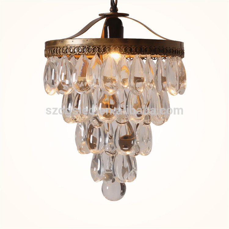 china supplier chandelier light clear crystal pendant lamp for hotel