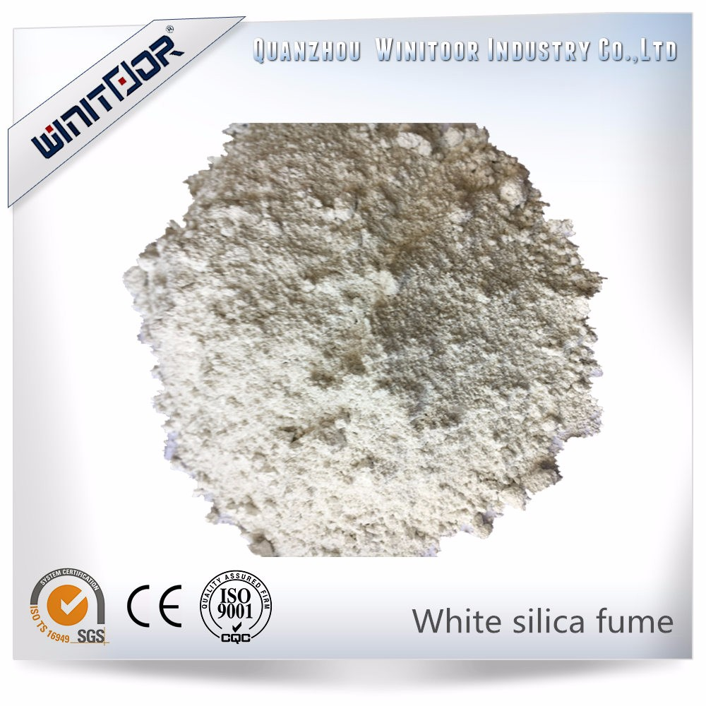 White micro silica fume for concrete