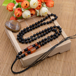 obsidian agate latest design beads necklace